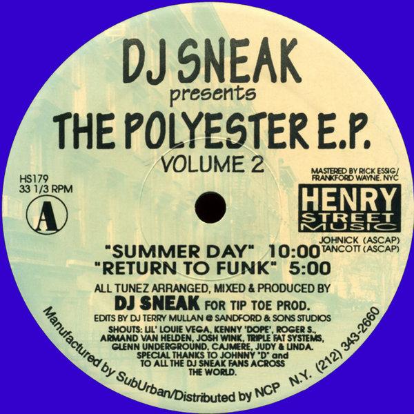 DJ Sneak The Polyester EP